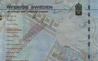 Swedish emergency passport - size A4 - white light